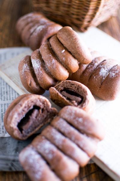 バトンショコラでパリッ、ふわぁ、チョコパン