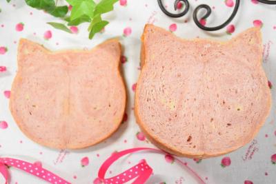 ねこ食パンのバレンタインラッピング