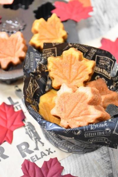 いちごとかぼちゃの米粉のフィナンシェ