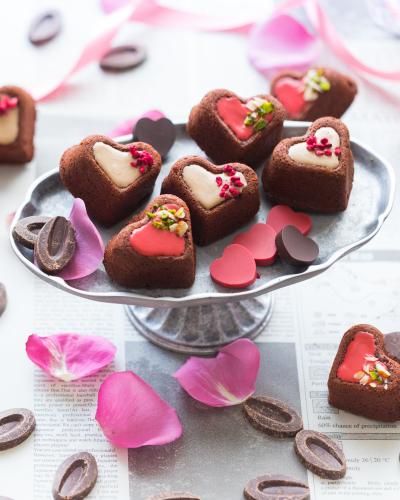 ☆バレンタインにオススメ!高級チョコレートで作るハートのケーキ☆