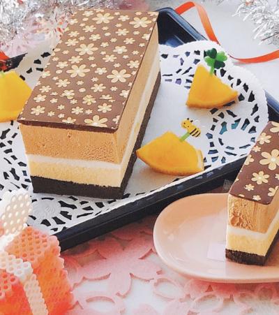【VD2020】チョコとオレンジのムースケーキ♡