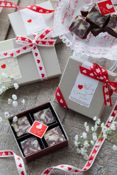 ☆バレンタインカラーで決まり!マーブル生チョコのラッピング☆