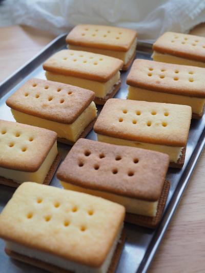 クッキーサンドのラッピング