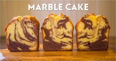 ココアのマーブルパウンドケーキ(動画あり)