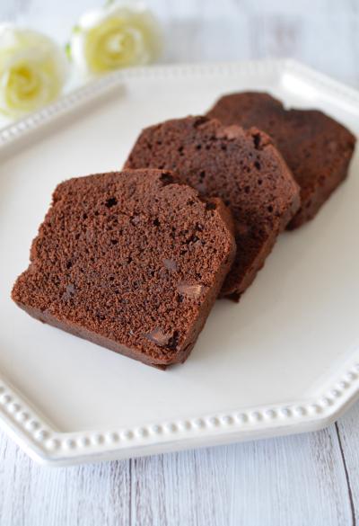 板チョコでもおいしい!チョコパウンドケーキ