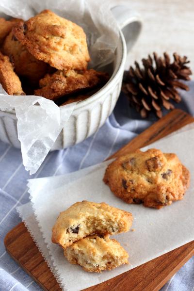 ココナッツとチョコのドロップクッキー