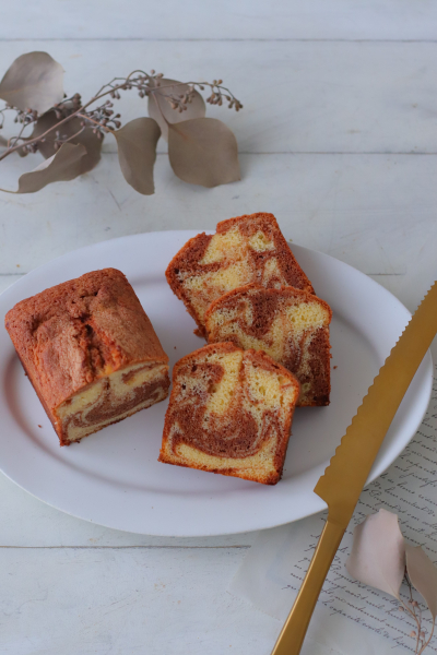 チョコマーブルパウンドケーキ