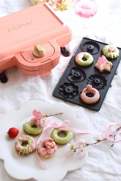 BRUNO ホットサンドメーカーで♪抹茶と桜の焼きドーナツ