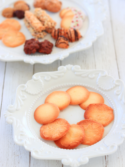 卵白を使ったクッキー『チュイル・オ・ザマンド』『ラング・ド・シャ』