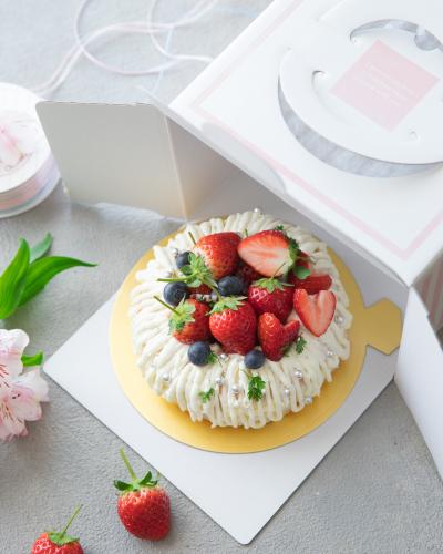 ☆いちごのエンゼルケーキのボックスラッピング☆
