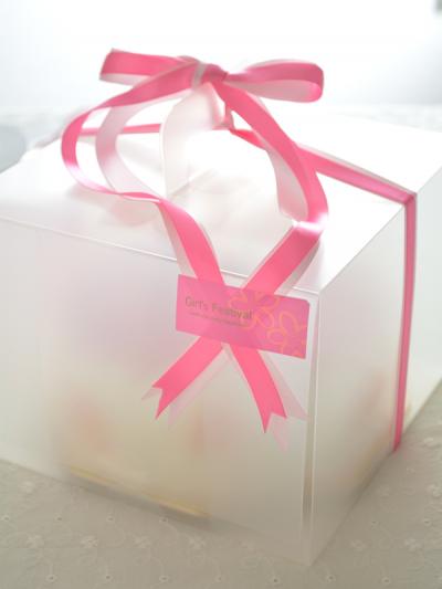くりかえし使えるケーキ箱で手土産ケーキ♪