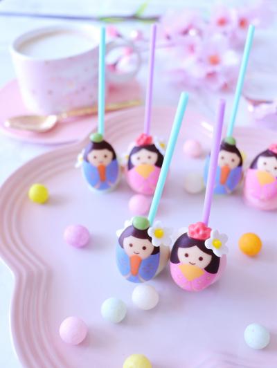 ひな祭りに♡ホットチョコレートドリンクポップス