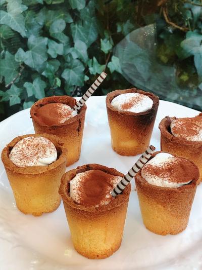 カップまで食べられるカフェモカチョコムース