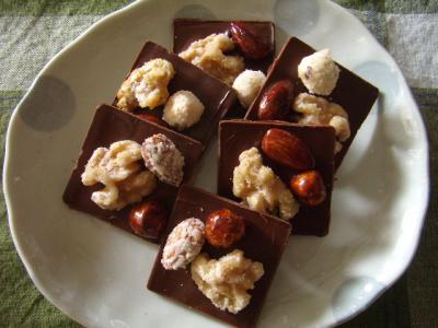 【VD2020】パリッと極薄♡ シュガーナッツのスクエアチョコレート☆