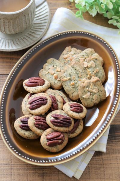 フリーザーバッグ一つで!サクサク紅茶とナッツのクッキー