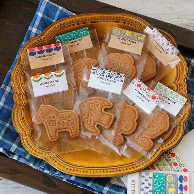 北欧風スタンプクッキーのラッピング