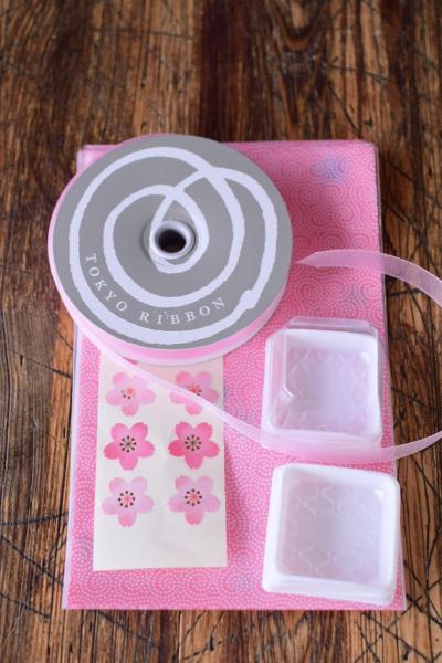 桜餅の小包装ラッピング