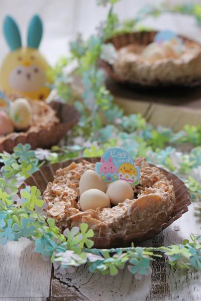 イースターのザクザク小鳥の巣ココナッツ