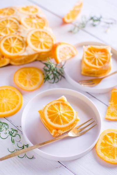 オレンジのスクエアケーキ