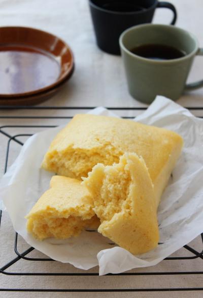 米粉で作る「卵蒸しパン」