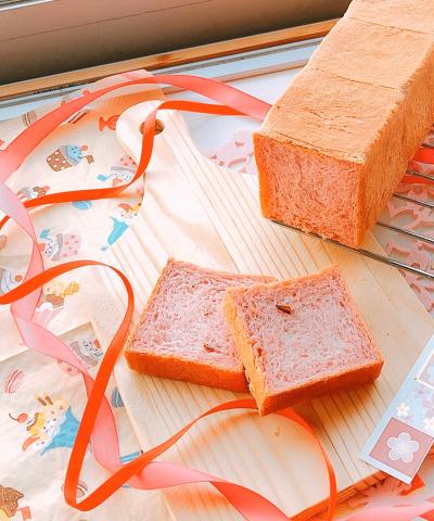✿桜香るピンク食パン✿