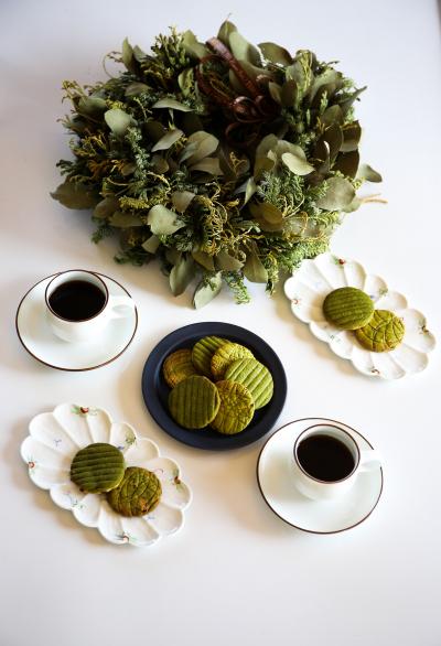 抹茶のツートン・パワークッキー