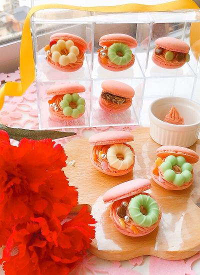 桜バターのオープンマカロン♡