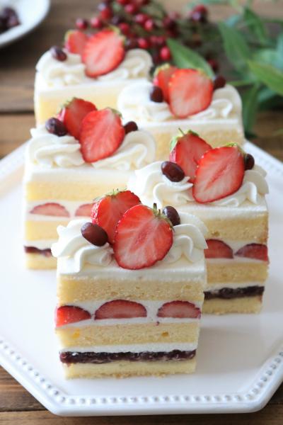 苺とあんこのショートケーキ