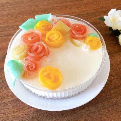 母の日に!バラ桃のチーズムース