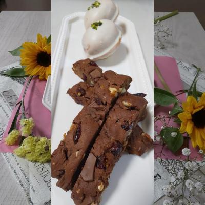 大豆粉で作るギルトフリーなチョコビスコッティ