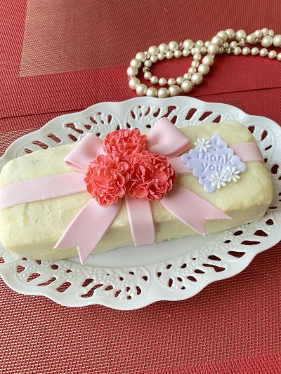 マシュフォンデコ®︎で母の日パウンドケーキ