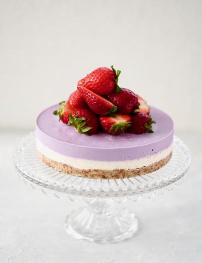 ベリーたっぷり!ヴィーガンチーズケーキ