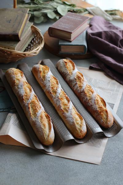 フランスパン用天板で作るバゲット