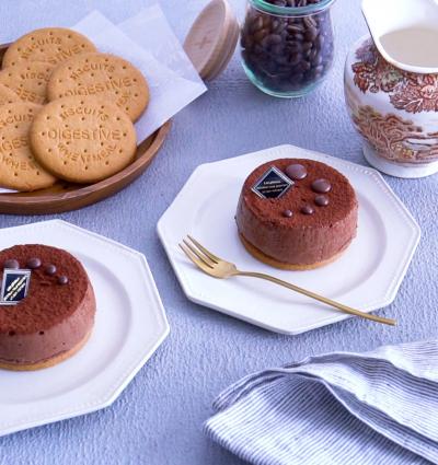 レンジで作れる!オレンジチョコチーズケーキ