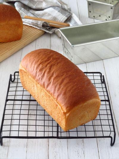 パウンド型で焼く ふんわり軽い♪ワンローフ食パン