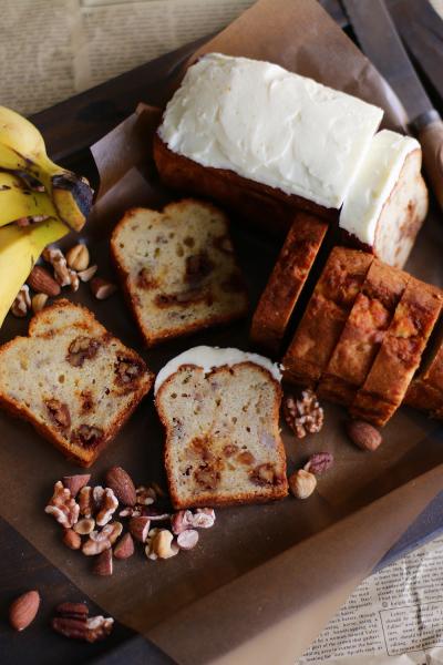 キャラメルナッツバナナケーキ