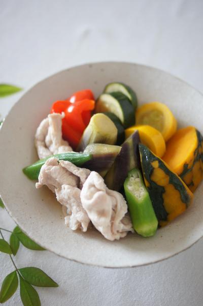 豚しゃぶと夏野菜の冷やし鉢