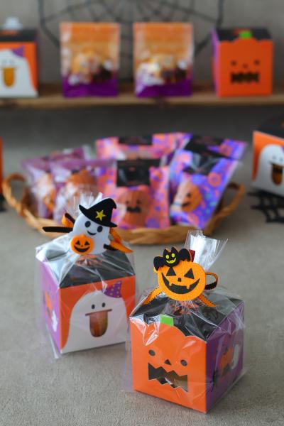 ハロウィンBOXの焼き菓子ラッピング