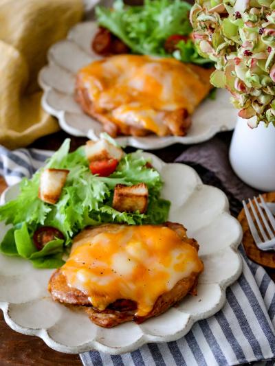 甘辛鶏肉のコクうまチーズ焼き