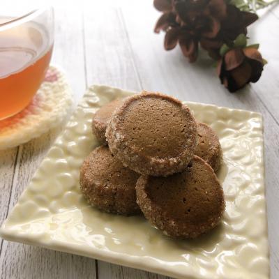 卵、バター不使用!キャロブシロップで優しいスパイスチャイ風クッキー