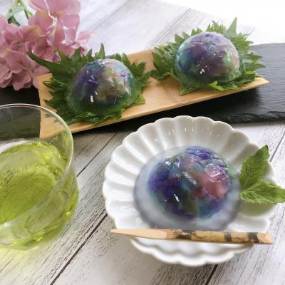 紫陽花の水信玄餅
