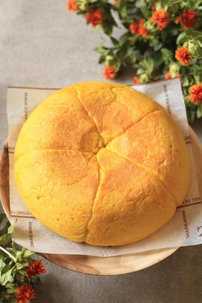 炊飯器使用!かぼちゃ餡パン