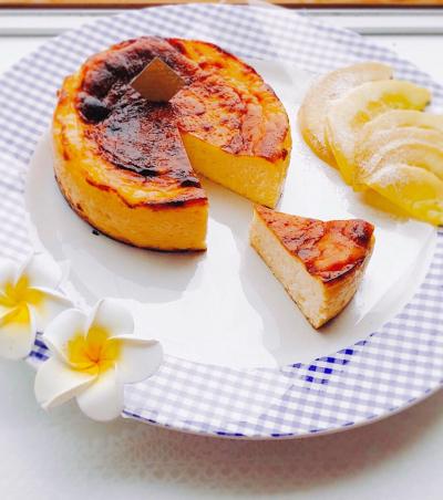 濃厚レモンのバスク風チーズケーキ♡