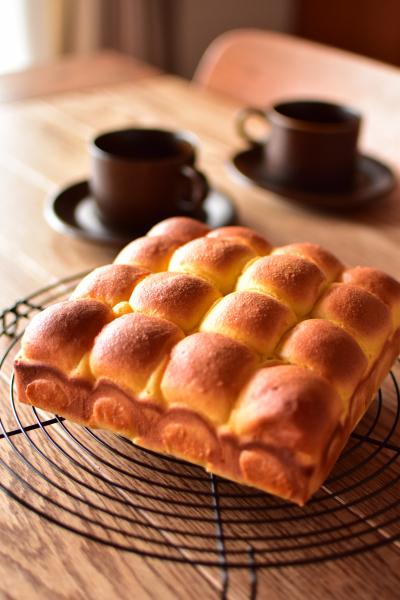 きびオリゴを使ったスイートブールのちぎりパン♪