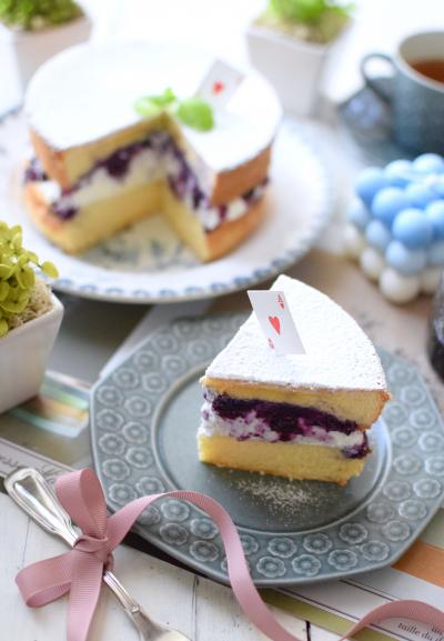 ブルーベリーたっぷり♪ビクトリアサンドイッチケーキ