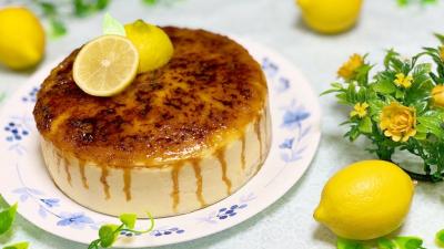 レモンブリュレチーズケーキ