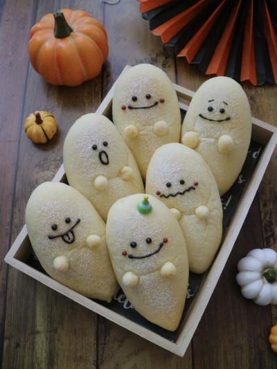 おばけパン☆いちごクリームチーズ入り