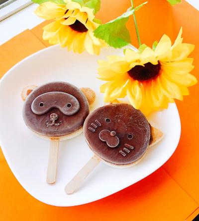 チョコ&ミルクチーズの二層アイス☆