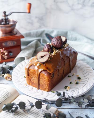 栗のパウンドケーキ コーヒーアイシング