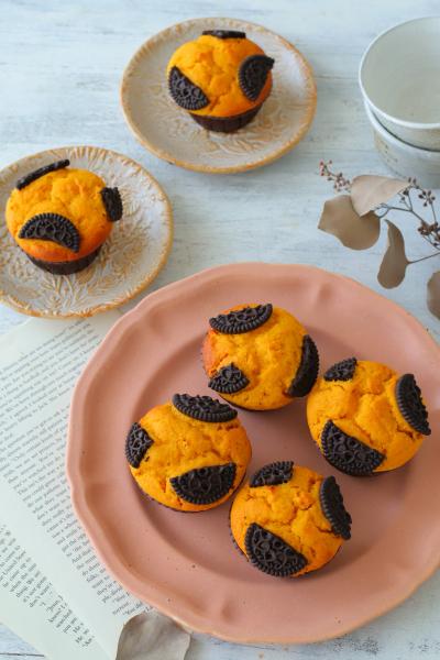 混ぜて焼くだけ簡単かぼちゃマフィン